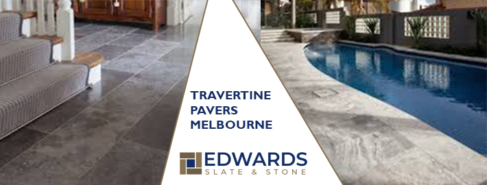 platform of Travertine Tiles